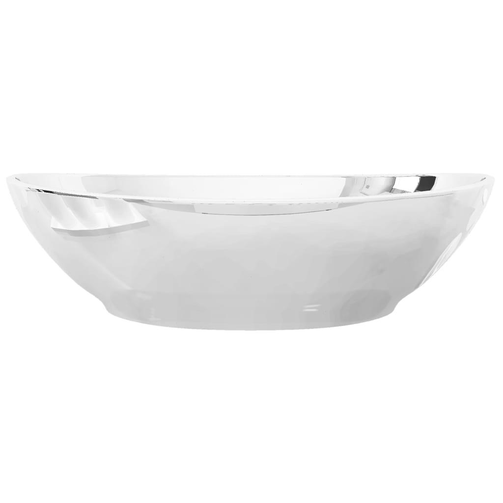 Chiuvetă de baie, argintiu, 40 x 33 x 13,5 cm, ceramică