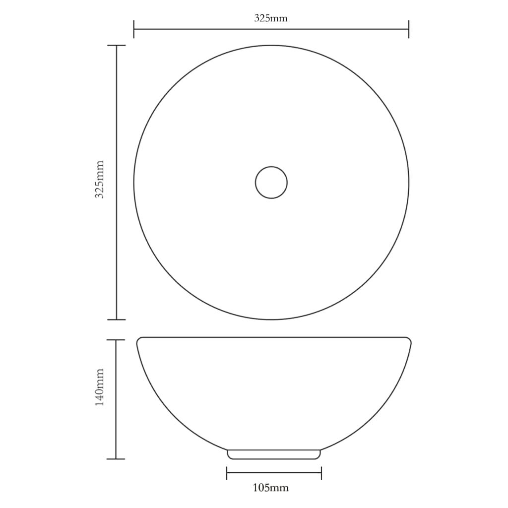vidaXL Chiuvetă, argintiu, 32,5 x 14 cm, ceramică