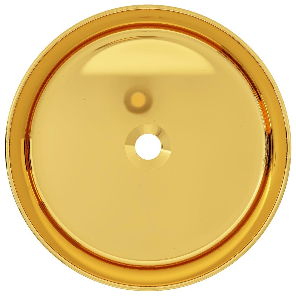 Chiuvetă de baie, auriu, 40 x 15 cm, ceramică