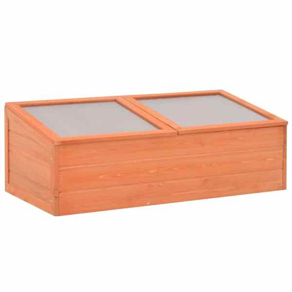 vidaXL Seră din lemn, 100 x 50 x 34 cm