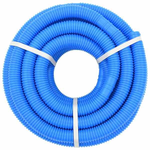 Furtun de piscină, albastru, 32 mm, 12,1 m