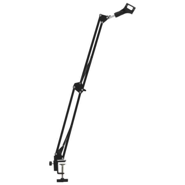 vidaXL Stativ de microfon cu montare pe masă, negru, oțel