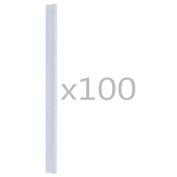 vidaXL Cleme fixare fâșii de gard, 100 buc., PVC, transparent