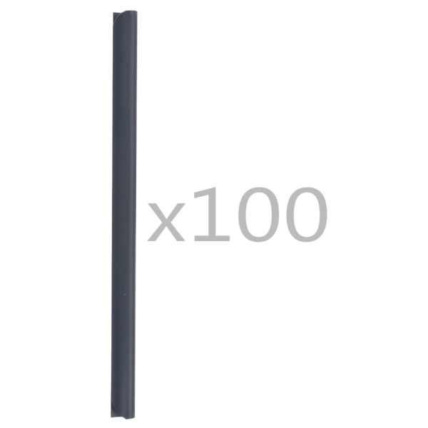 vidaXL Cleme fixare fâșii de gard, 100 buc., antracit, PVC