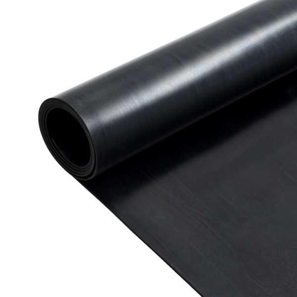Covor de cauciuc anti-alunecare, 1,2 x 2 m, 2 mm, neted