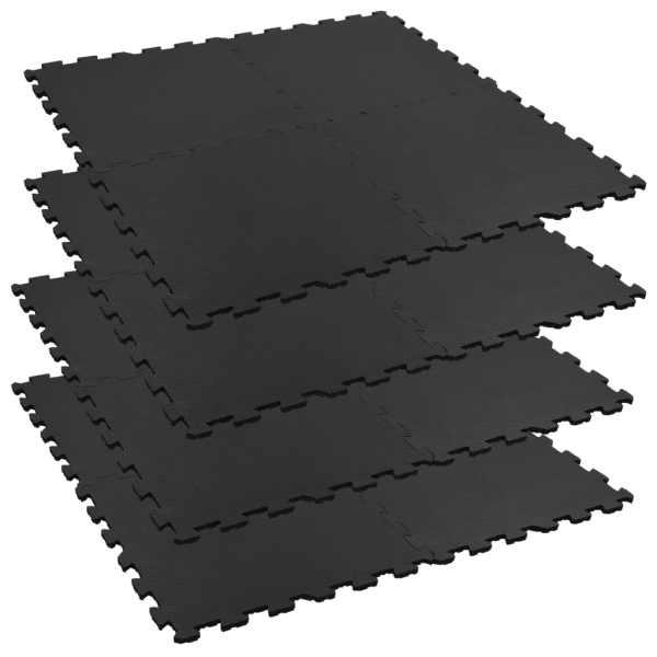 vidaXL Covorașe interconectate cai 4 buc. 60x60cm cauciuc 12mm hexagon