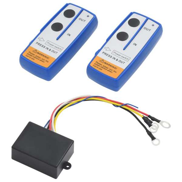 vidaXL Telecomenzi wireless pentru troliu, 2 buc., cu receptor