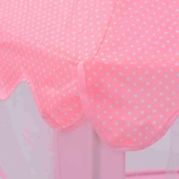 vidaXL Cort de joacă pentru prințesă, roz