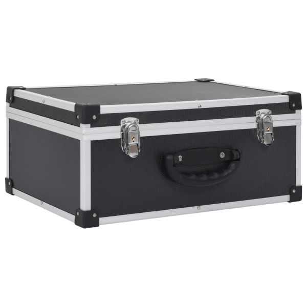 vidaXL Casetă pentru 80 CD-uri, aluminiu, ABS, negru