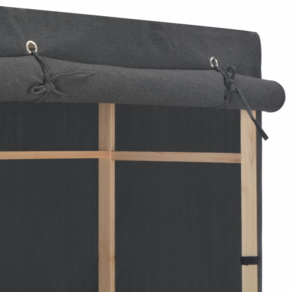 Șifonier cu 3 rafturi, gri, 79 x 40 x 170 cm, material textil