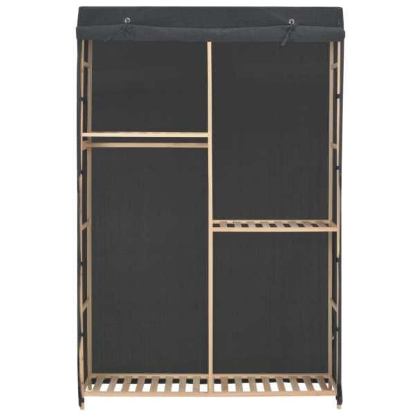 vidaXL Șifonier cu 3 rafturi, gri, 110 x 40 x 170 cm, material textil