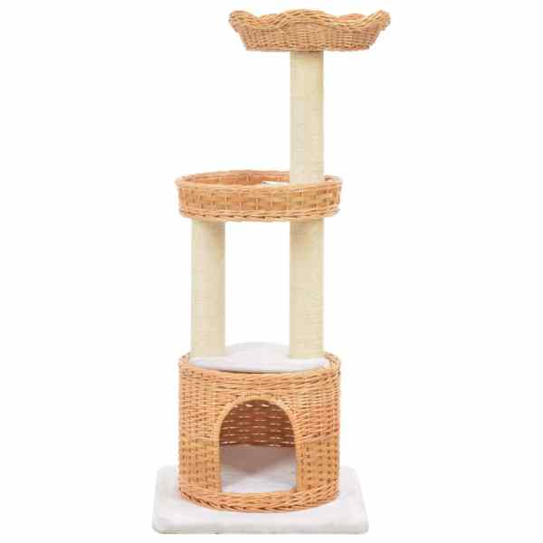Ansamblu pentru pisici cu stâlp funie sisal, lemn de salcie