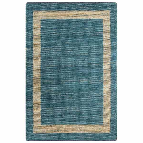 vidaXL Covor manual, albastru, 80 x 160 cm, iută