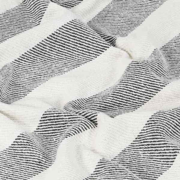 vidaXL Pătură decorativă, antracit, 160 x 210 cm, bumbac, dungi