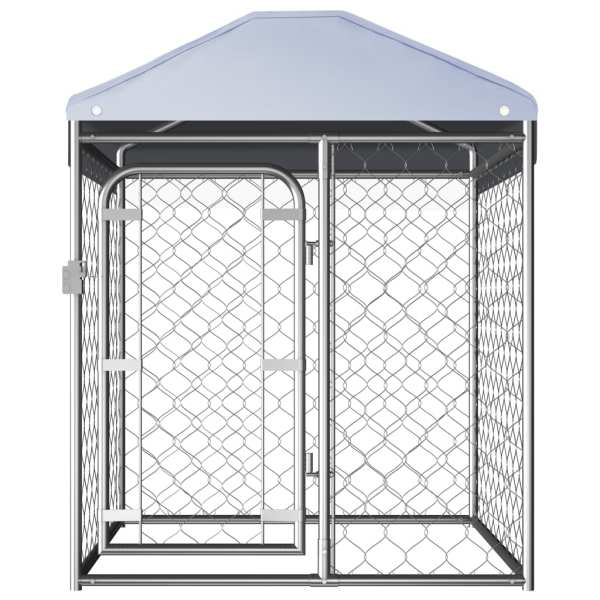 vidaXL Padoc pentru câini de exterior, cu acoperiș, 100 x 100 x 125 cm