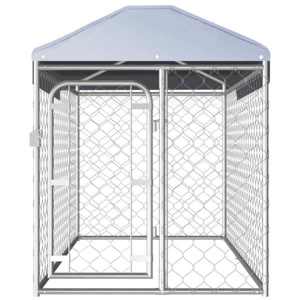 Padoc pentru câini de exterior cu acoperiș, 200 x 100 x 125 cm
