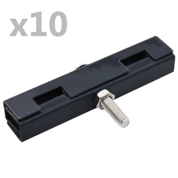 vidaXL Conector în formă de U grilaj grădină, 10 seturi, antracit