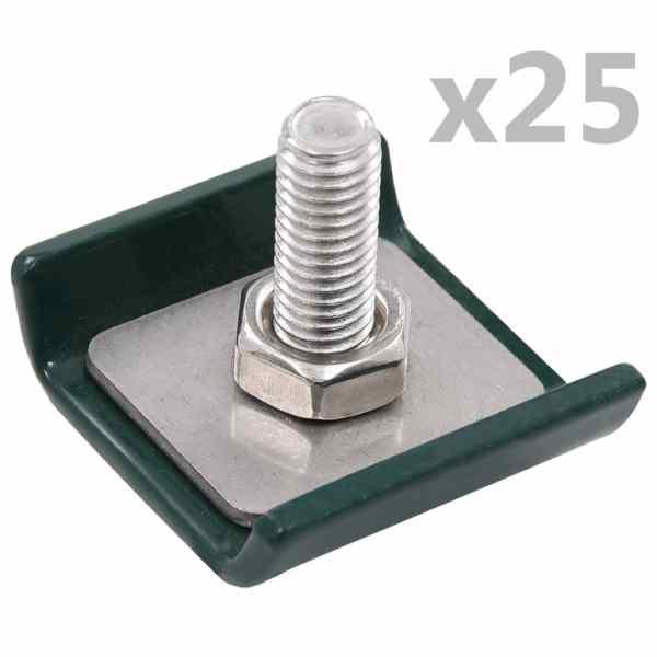 vidaXL Conector grilaj din plasă, verde, 25 seturi