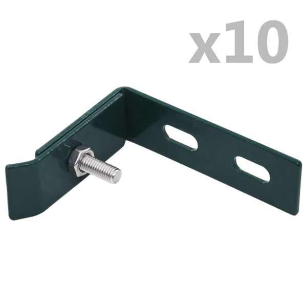 vidaXL Conector de colț de perete, 10 seturi, verde
