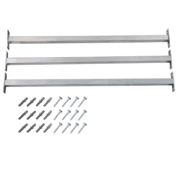 vidaXL Bare de siguranță fereastră reglabile, 3 buc., 710-1200 mm