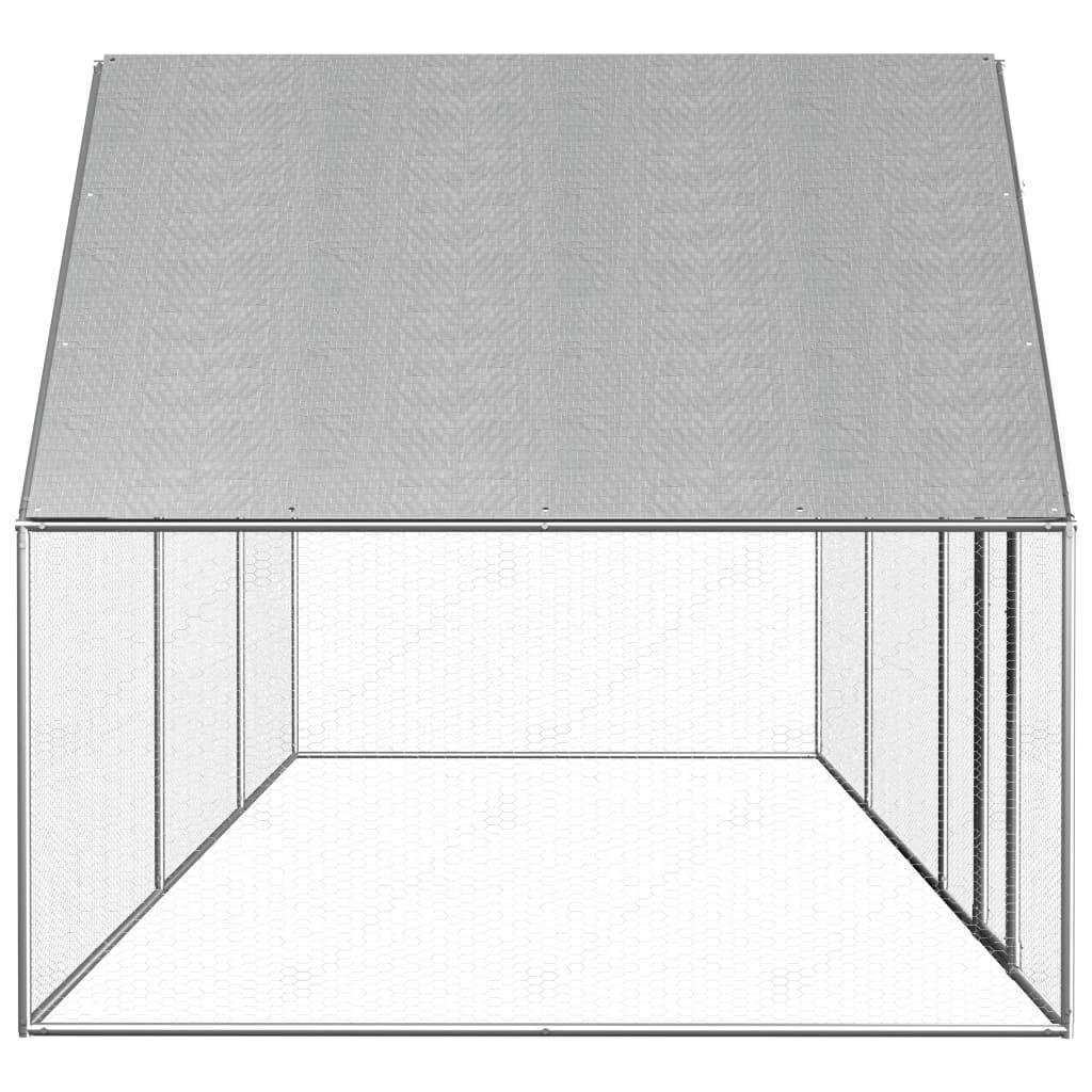 Coteț de găini, 6 x 2 x 2 m, oțel galvanizat