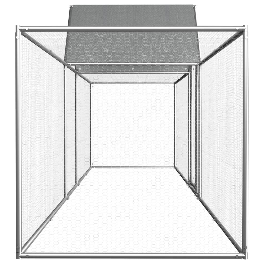 Coteț de găini, 5 x 1 x 1,5 m, oțel galvanizat