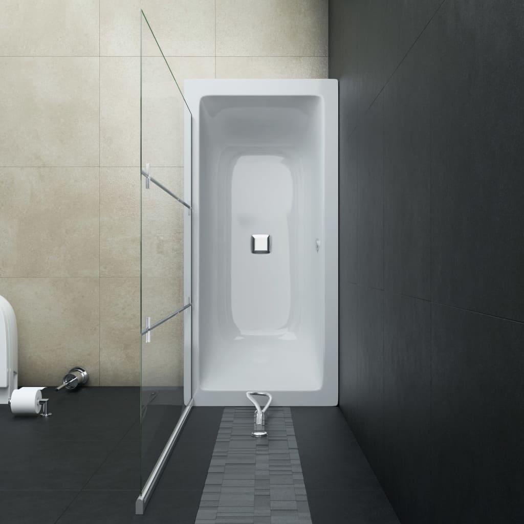 Cabină de duș pliabilă, 3 panouri, 130 x 138 cm, ESG