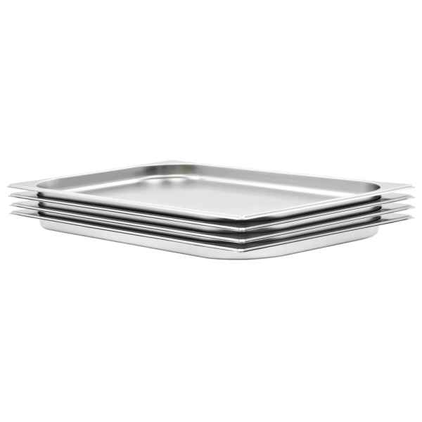 vidaXL Recipiente Gastronorm 4 buc. GN 1/1 20 mm oțel inoxidabil