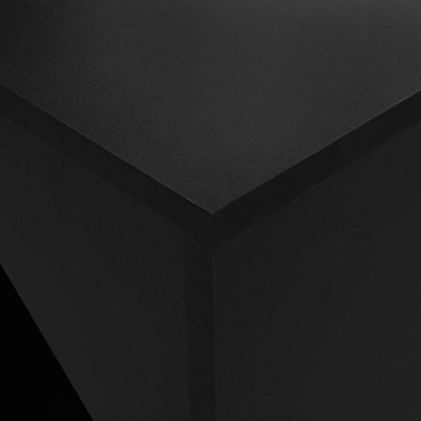 Masă de bar cu dulap, negru, 115 x 59 x 200 cm