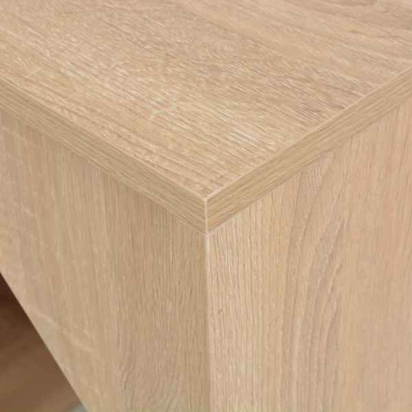 vidaXL Masă de bar cu dulap, stejar, 115 x 59 x 200 cm