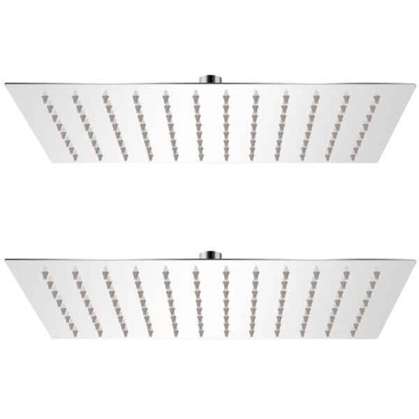 vidaXL Cap de duș tip ploaie, 2 buc., 20 x 30 cm, oțel inoxidabil