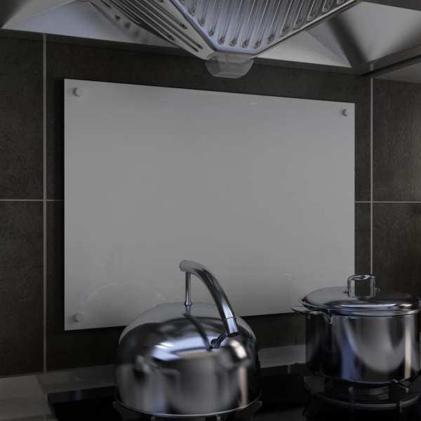 vidaXL Panou antistropi bucătărie, alb, 70×50 cm, sticlă securizată