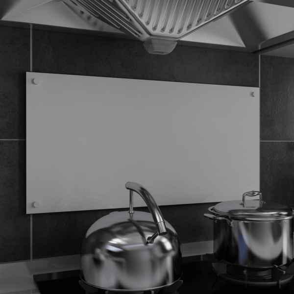 vidaXL Panou antistropi bucătărie, alb, 80×40 cm, sticlă securizată