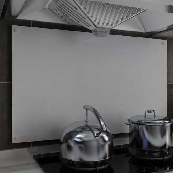 vidaXL Panou antistropi bucătărie, alb, 100×60 cm, sticlă securizată