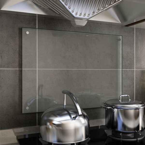 vidaXL Panou antistropi bucătărie transparent 70x50cm sticlă securiz.