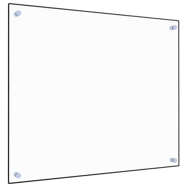 Panou antistropi bucătărie transparent 70x60cm sticlă securiz.
