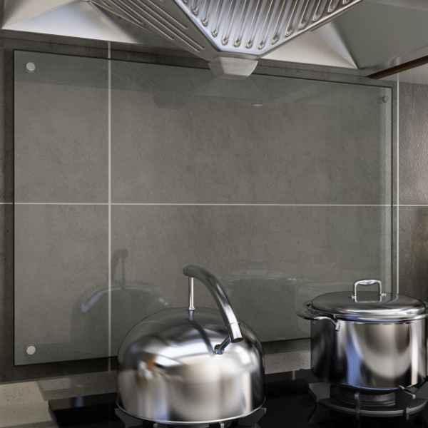 vidaXL Panou antistropi bucătărie transparent 90×60 cm sticlă securiz.