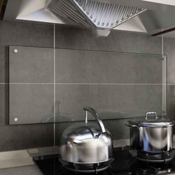vidaXL Panou antistropi bucătărie transparent 100x40cm sticlă securiz.