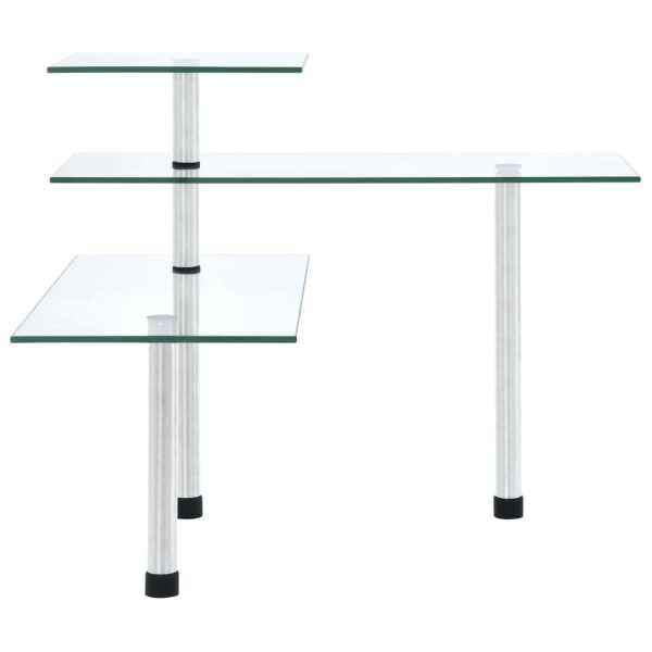 vidaXL Raft de colț de bucătărie, 3 niveluri, sticlă securizată