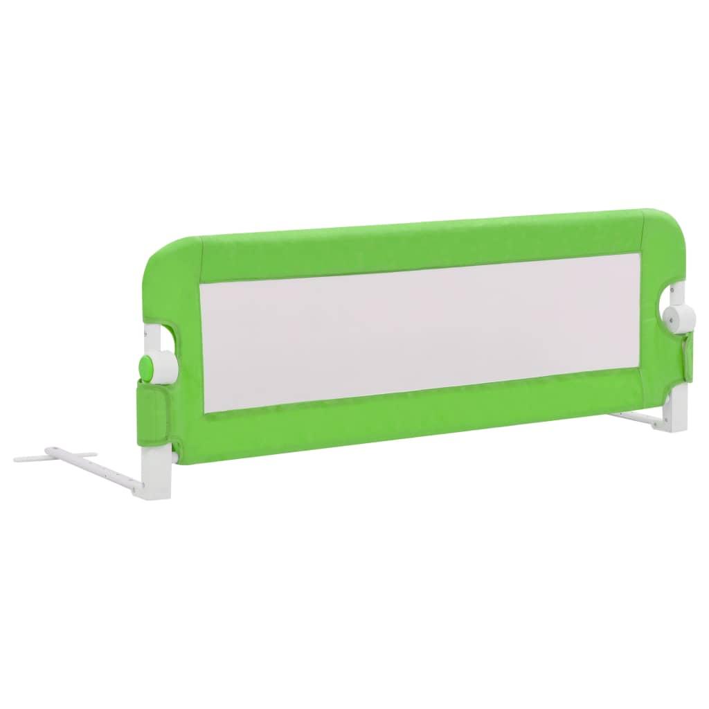 vidaXL Balustradă de protecție pat copii, verde, 120×42 cm, poliester