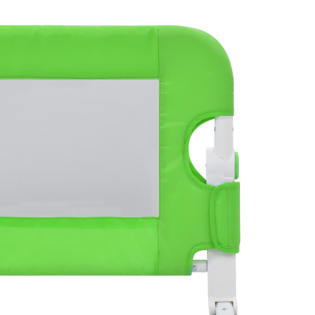 Balustradă de protecție pat copii, verde, 180×42 cm, poliester