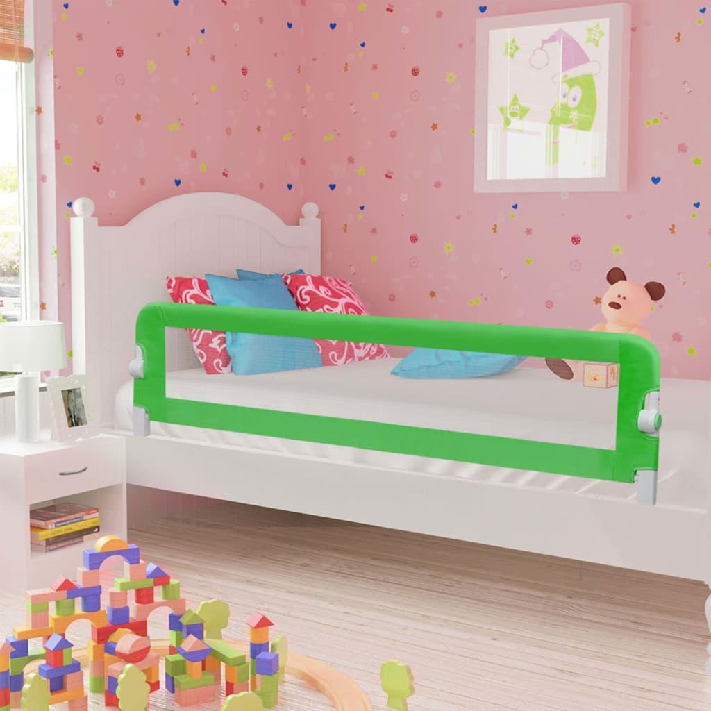 vidaXL Balustradă de protecție pat copii, verde, 180×42 cm, poliester