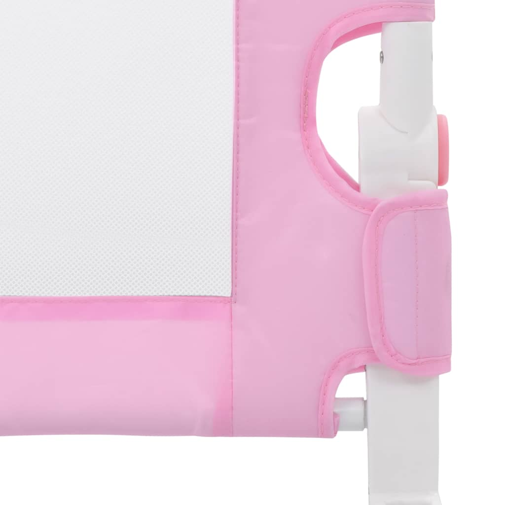 vidaXL Balustradă de protecție pat copii, roz, 120 x 42 cm, poliester
