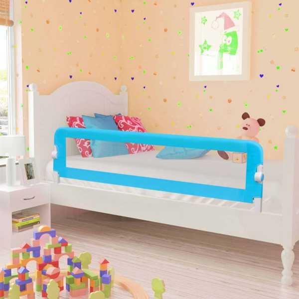 vidaXL Balustradă protecție pat copii, albastru, 120×42 cm, poliester