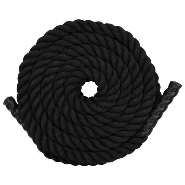 vidaXL Frânghie de antrenament, negru, 15 m, poliester