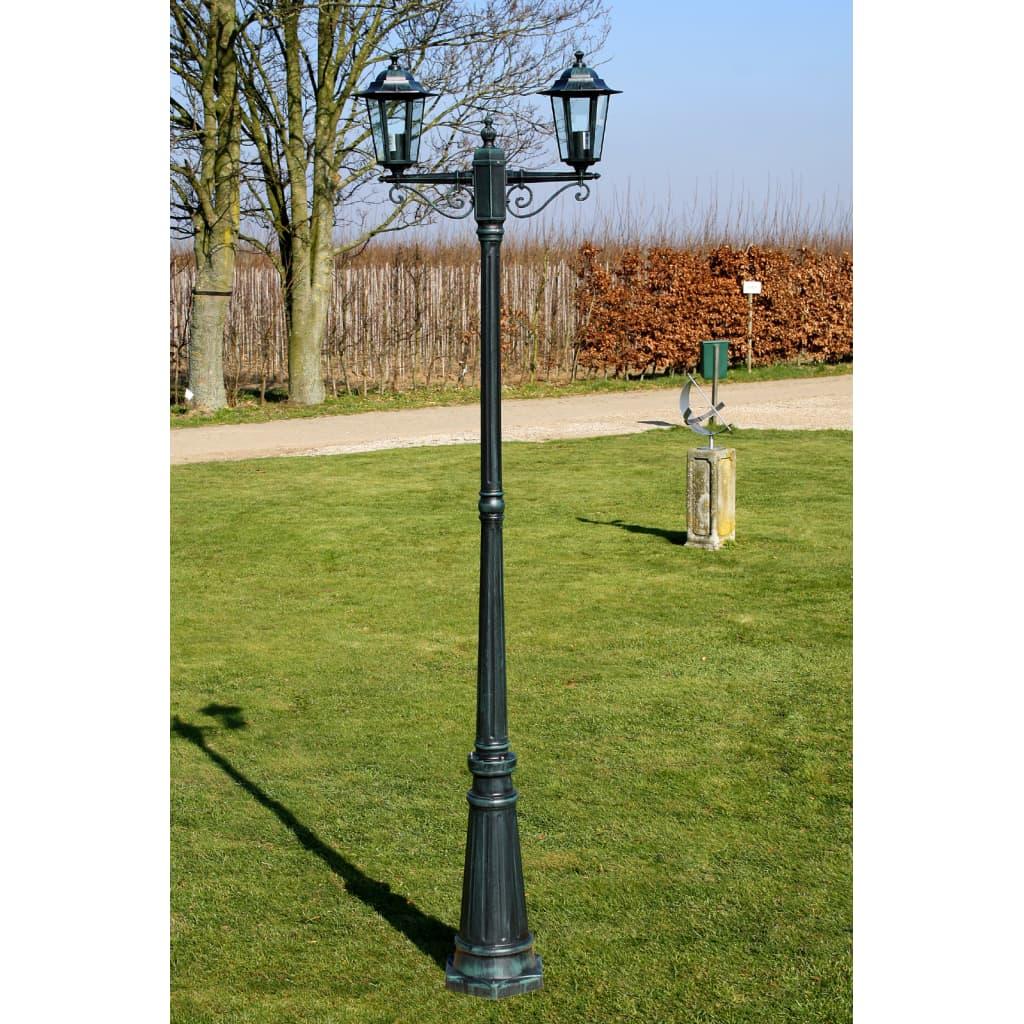 Felinar de grădină Brighton cu 2 brațe 215 cm Verde