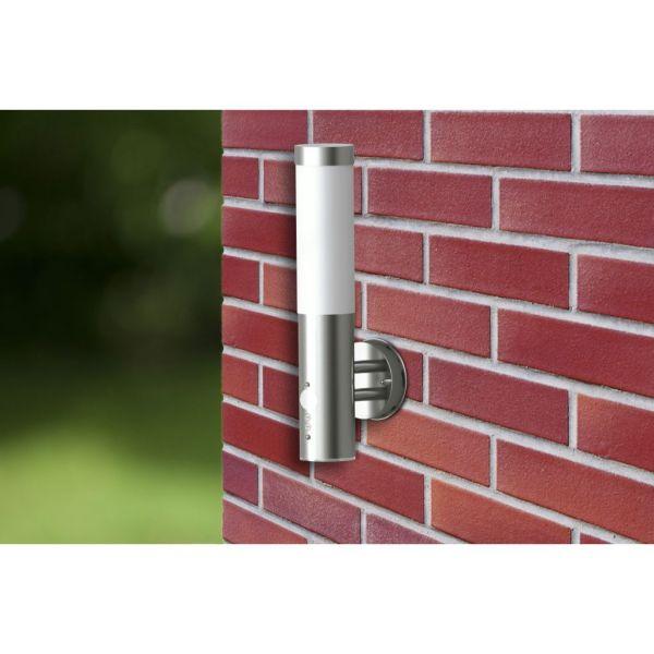 Lampă de perete exterior cu senzor de mișcare, oțel inoxidabil