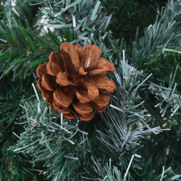 Brad de Crăciun artifcial cu conuri 150 cm