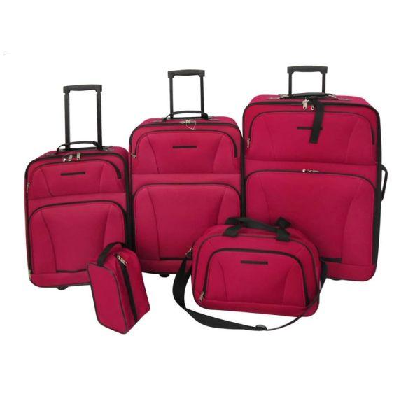Set 5 bagaje/trollere roșu