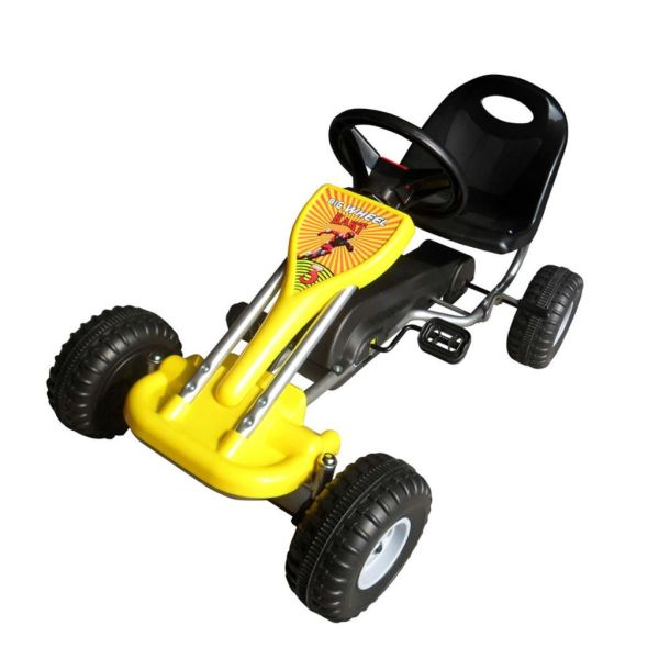 vidaXL Kart cu pedale Go Kart, galben